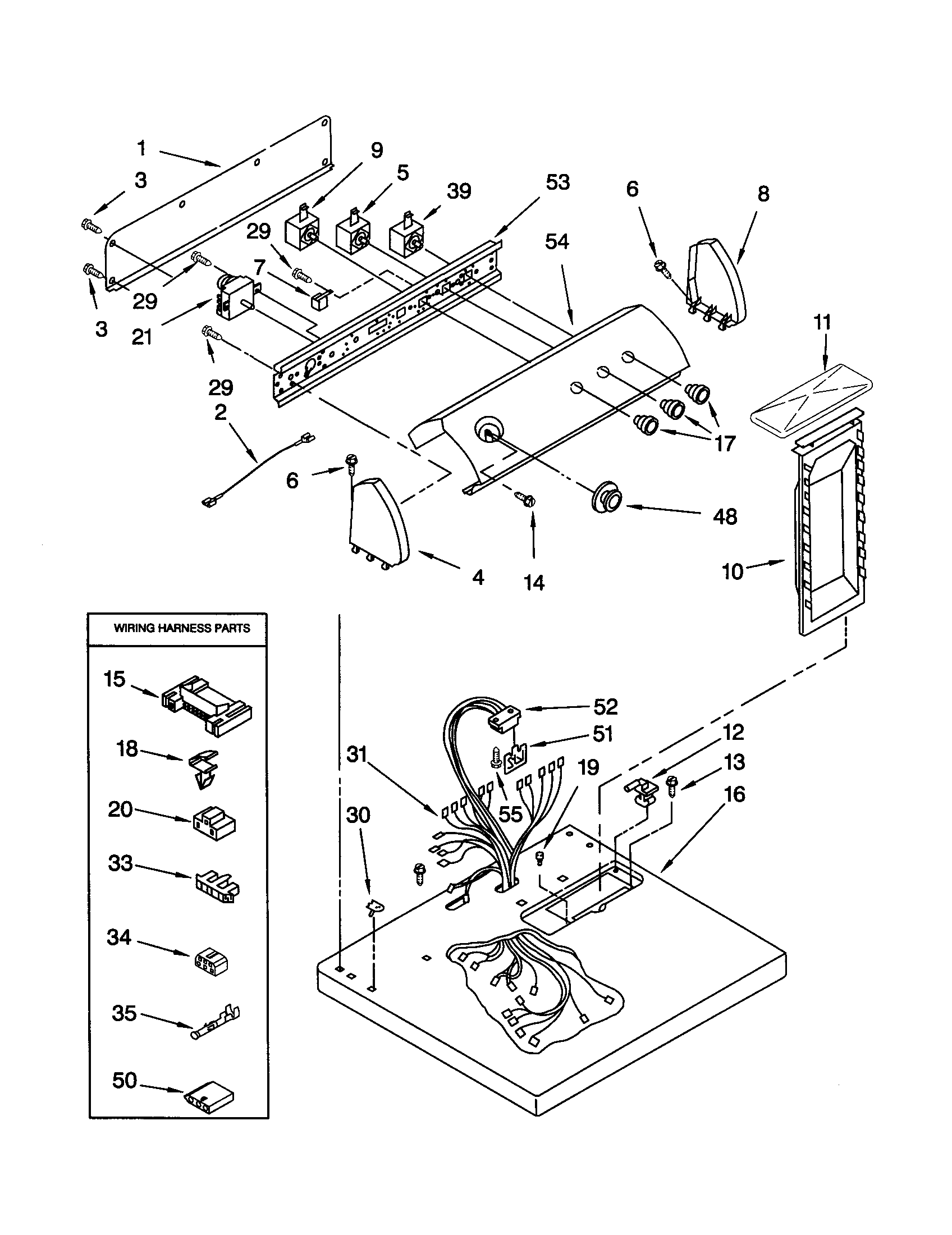 TOP AND CONSOLE Diagram & Parts List for Model leq8858jq1