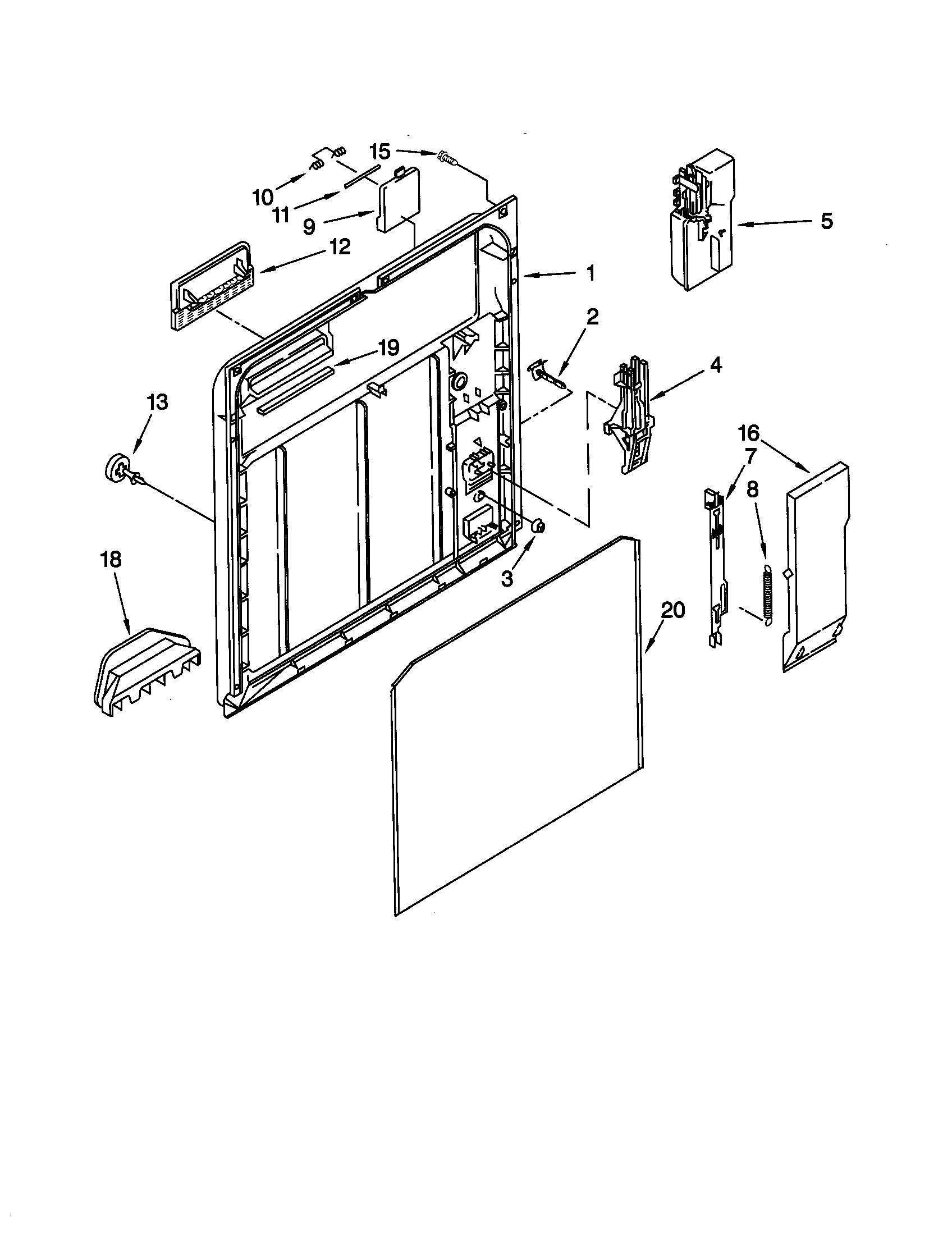INNER DOOR Diagram & Parts List for Model 66515752000