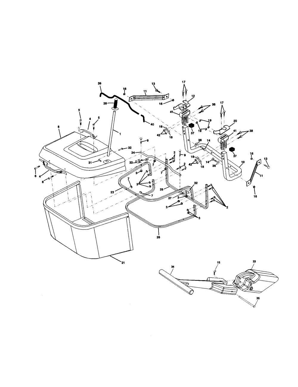 medium resolution of craftsman 917259462 bagger diagram