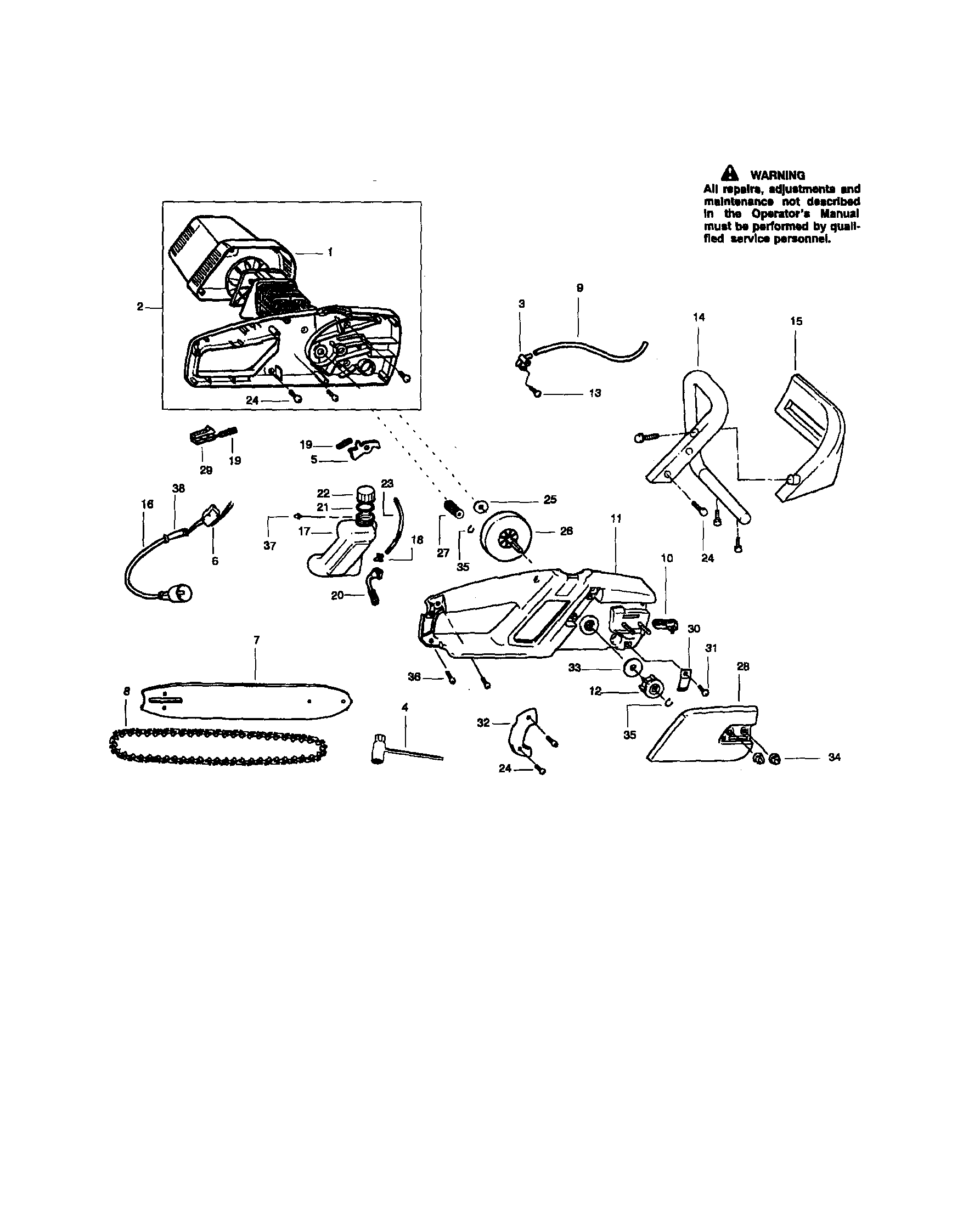 Husqvarna 435 Chainsaw Parts Diagram, Husqvarna, Free