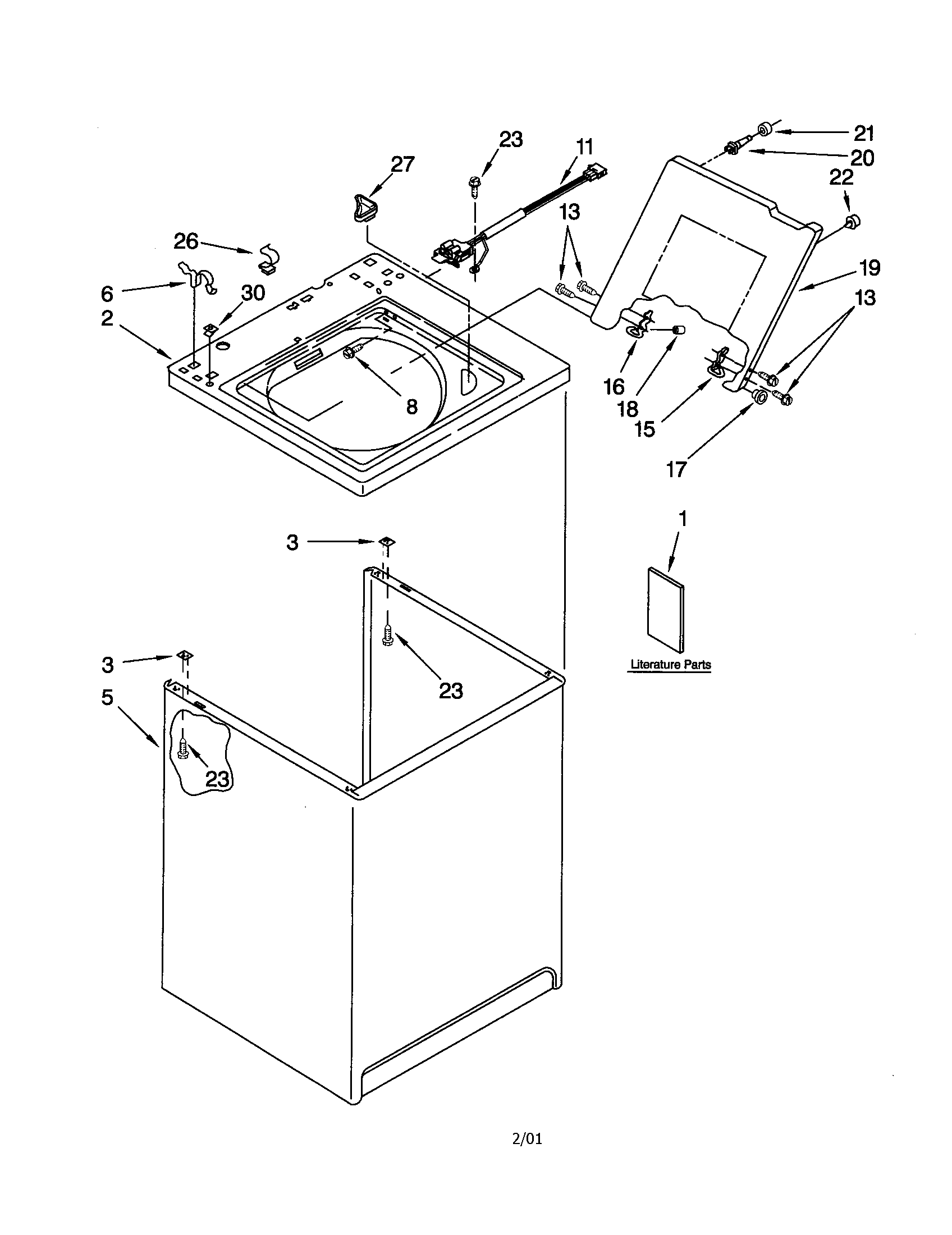 hight resolution of kenmore 11012502100 top and cabinet diagram