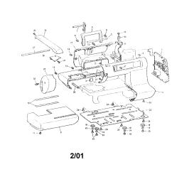 Elna Sewing Machine Parts Diagram Utility Trailer Light Wiring Janome 108