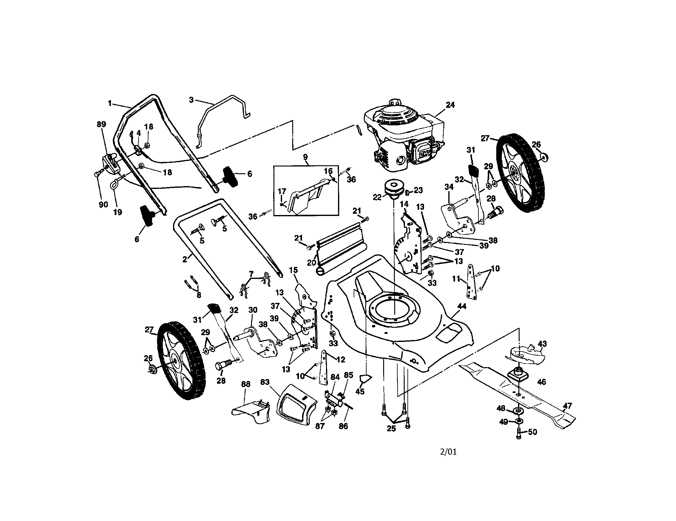 Wiring diagram honda diagrams poulan rotary mower parts model pr55hy21ca sears partsdirect