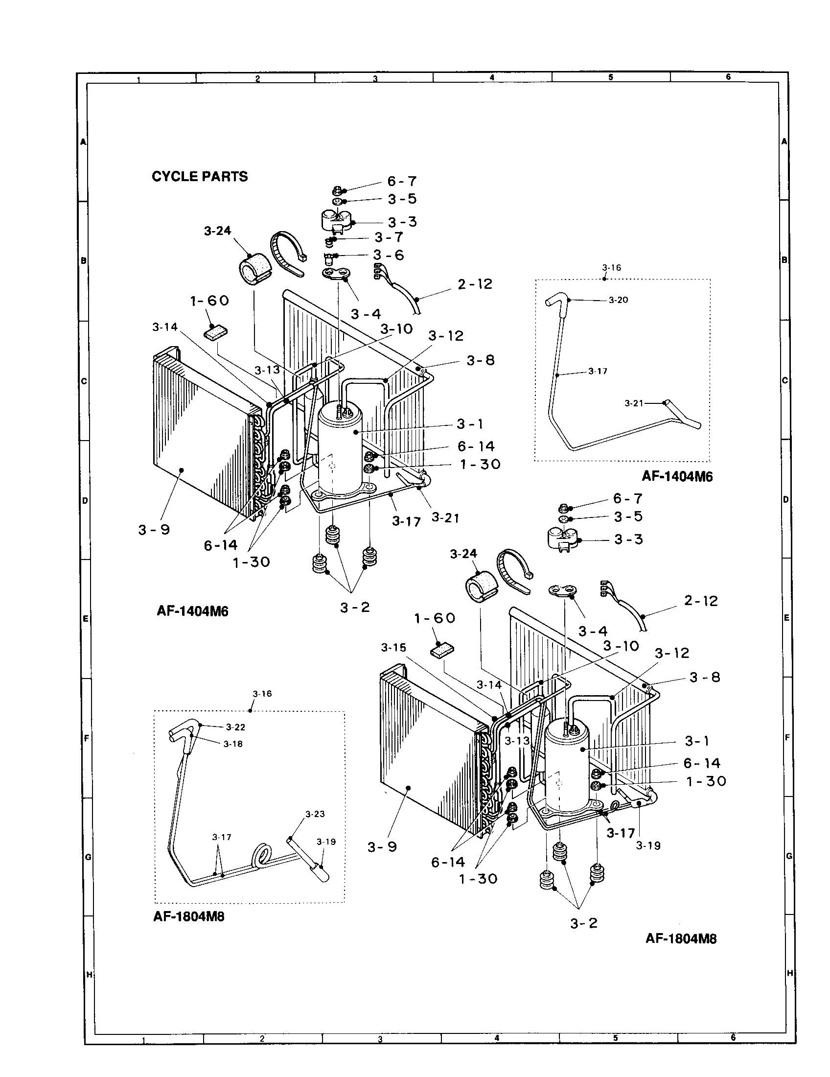 air conditioning components diagram fujitsu mini split wiring sharp conditioner parts model af