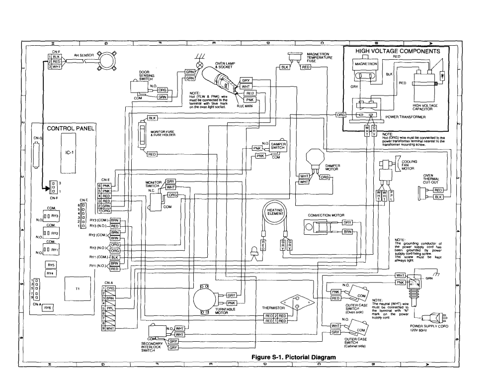 medium resolution of schematic diagram parts list for model r930ak sharpparts microwavelooking for sharp model r 930ak countertop microwave