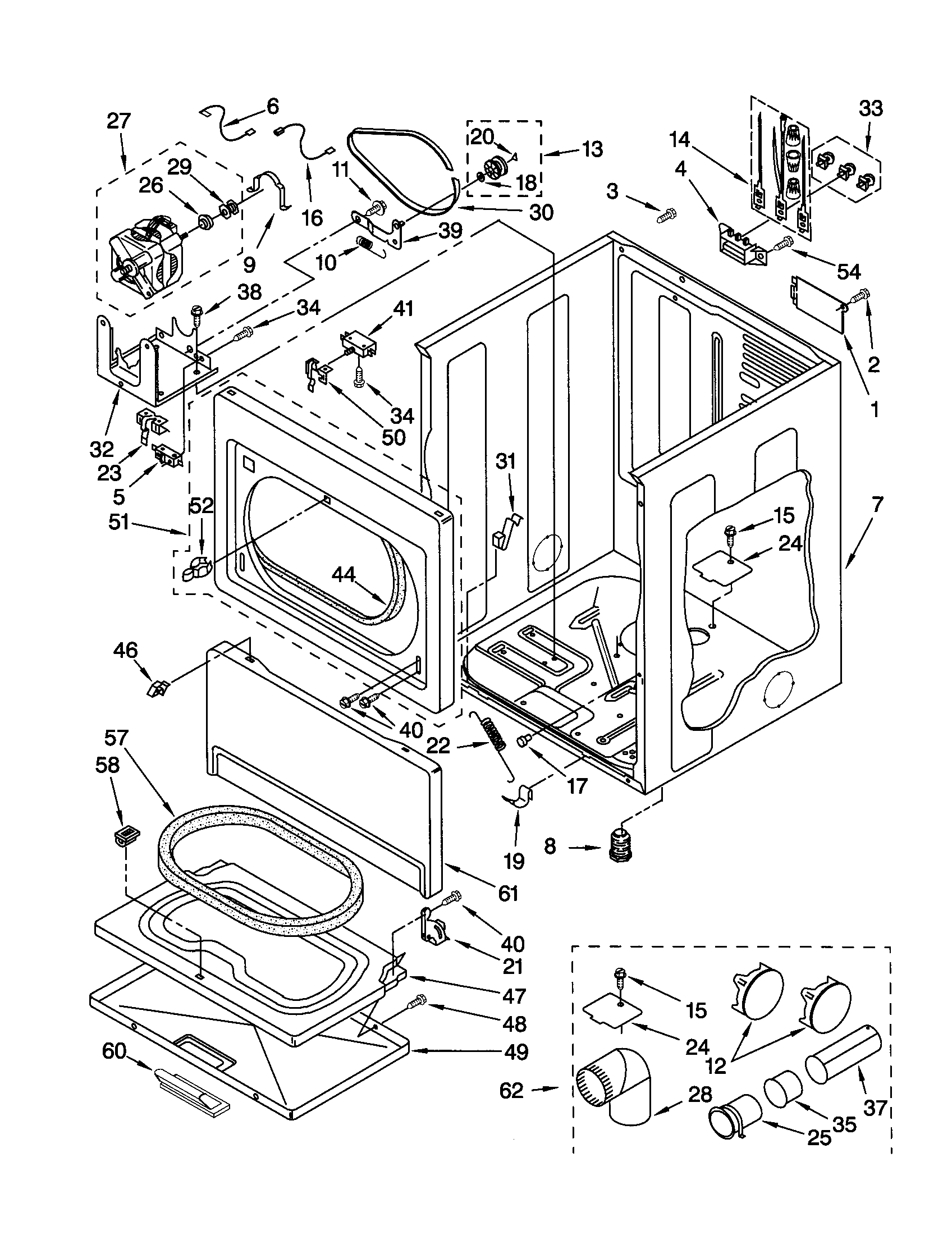 kenmore 90 series dryer parts diagram 7 way trailer plug wiring gmc model 11062912100 residential genuine
