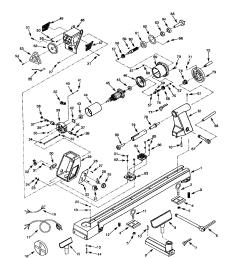 craftsman 351217170 figure 75 wood lathe diagram [ 1696 x 2200 Pixel ]