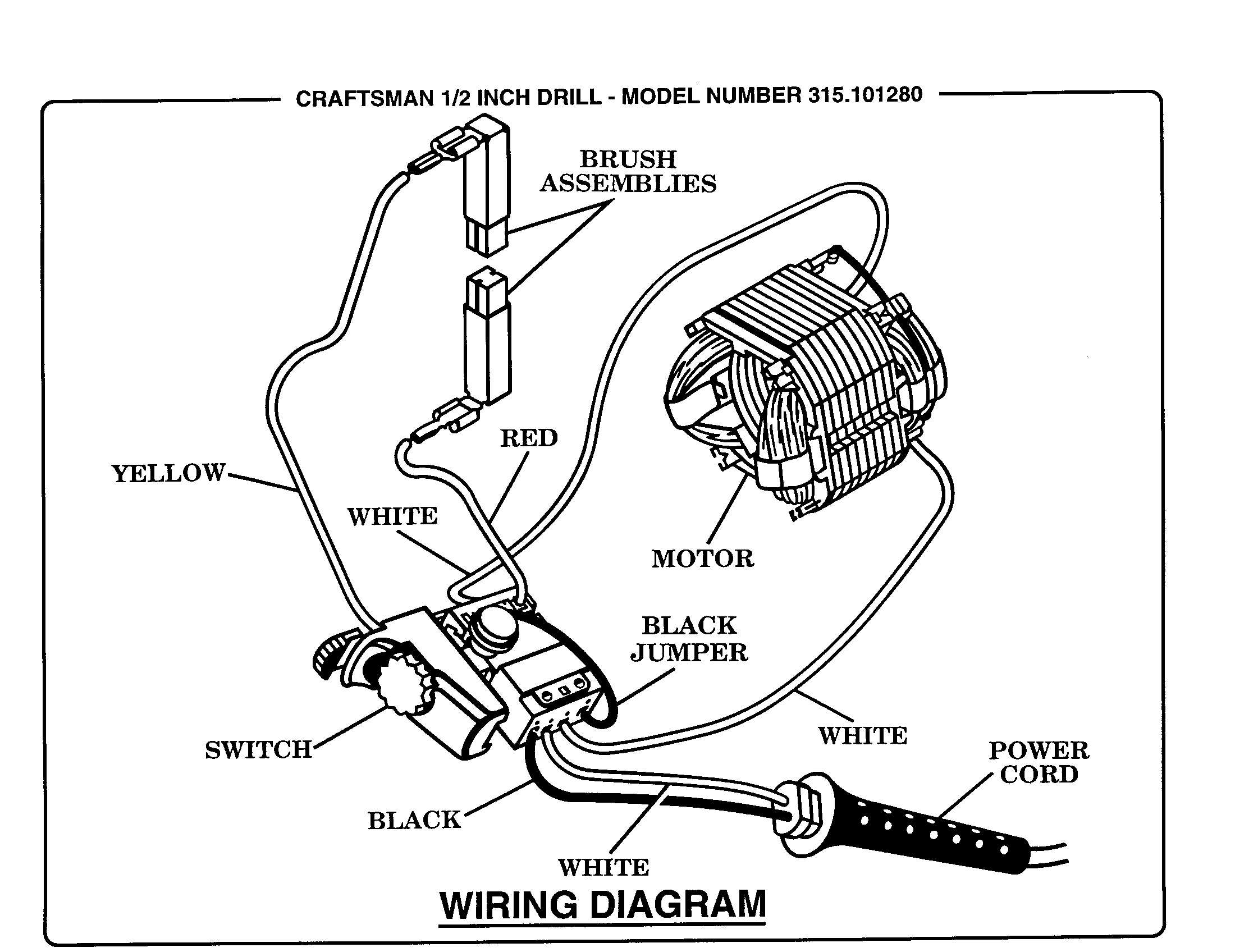 WIRING DIAGRAM Diagram & Parts List for Model 315101280