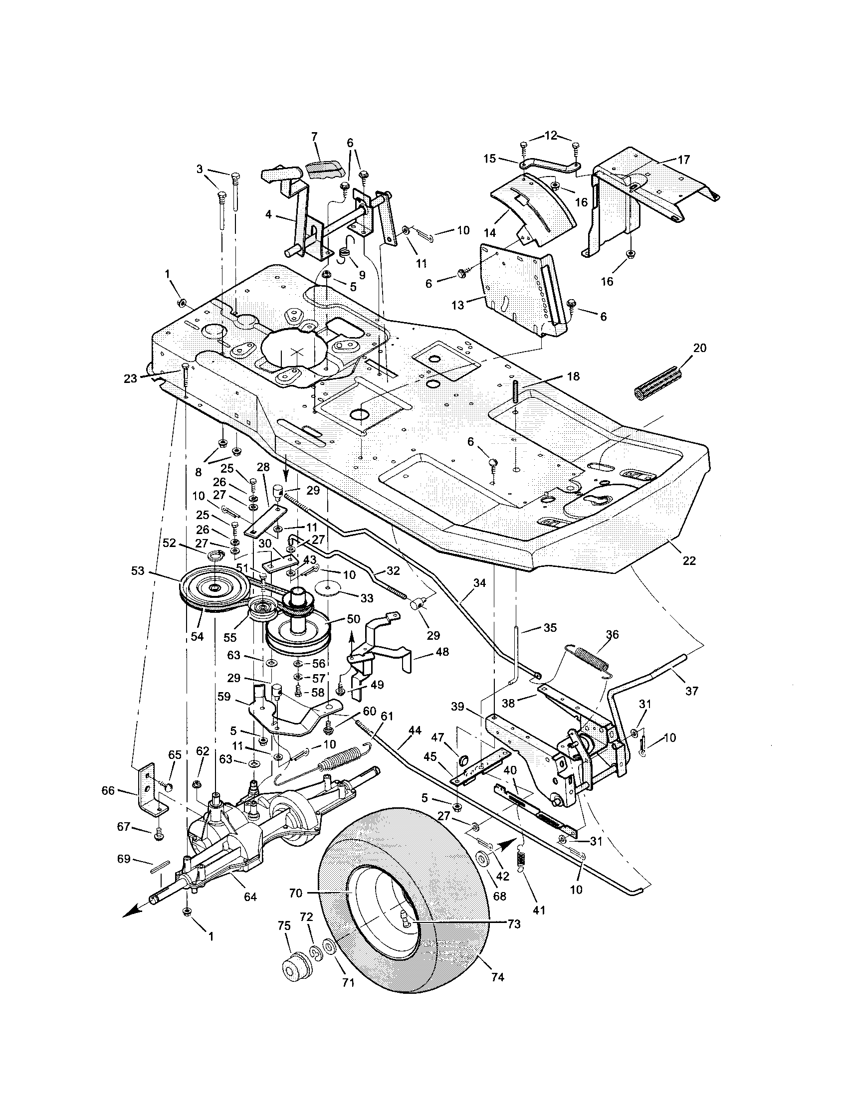 MOTION DRIVE Diagram & Parts List for Model 536270212