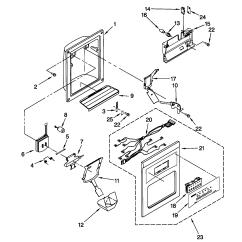 Kenmore 106 Refrigerator Parts Diagram Marine Battery Isolator Switch Wiring Howtorepairguide Coldspot Icemaker Will Not
