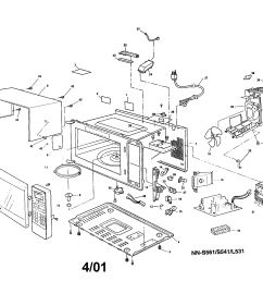 looking for panasonic model nn s531wfv countertop microwave repair cabinet diagram and parts list for panasonic microwaveparts model [ 2200 x 1696 Pixel ]