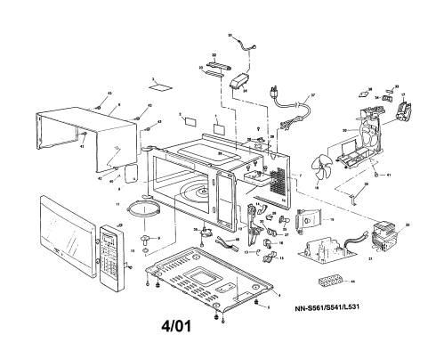 small resolution of looking for panasonic model nn s531wfv countertop microwave repair cabinet diagram and parts list for panasonic microwaveparts model