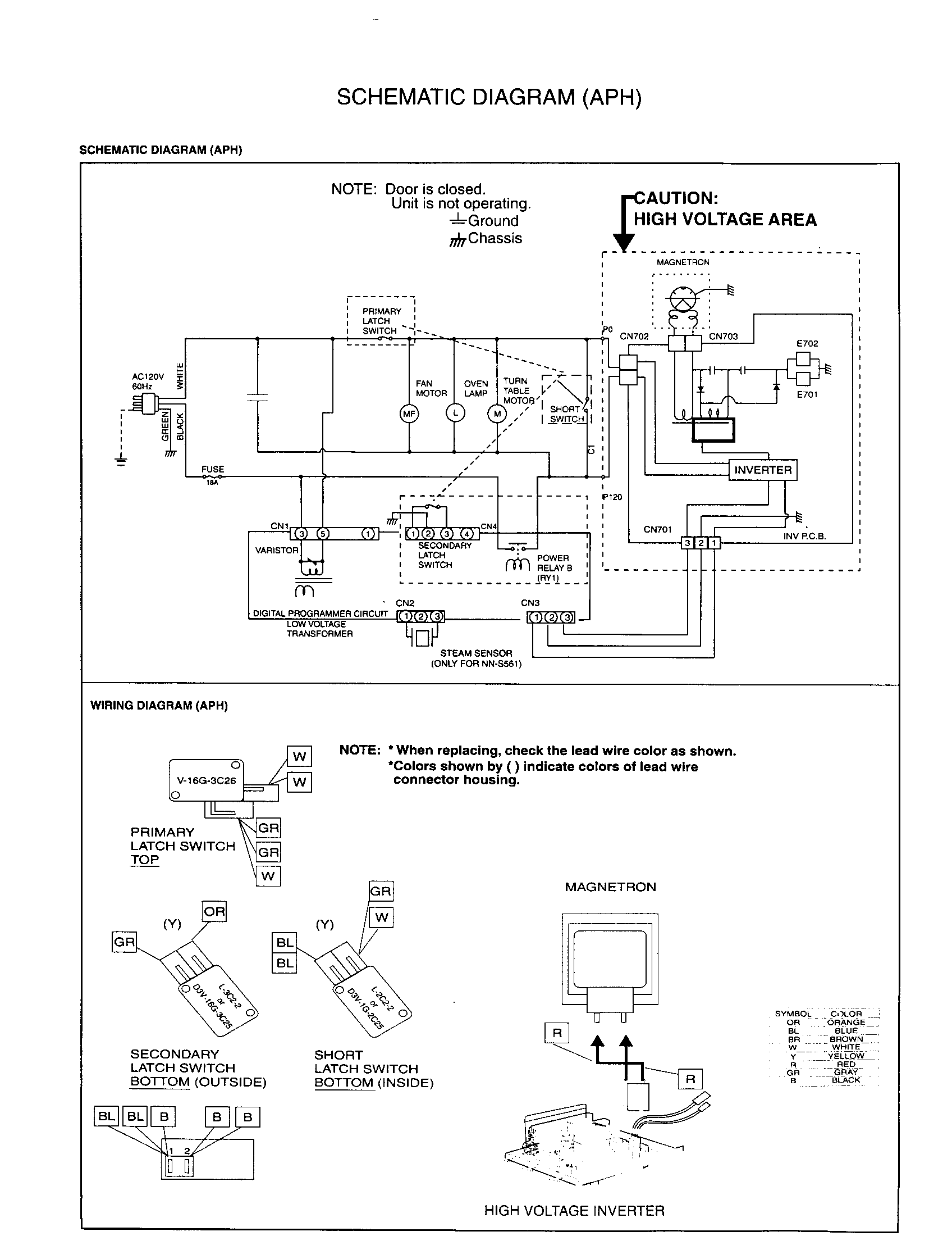 SCHEMATIC DIAGRAM (APH) Diagram & Parts List for Model