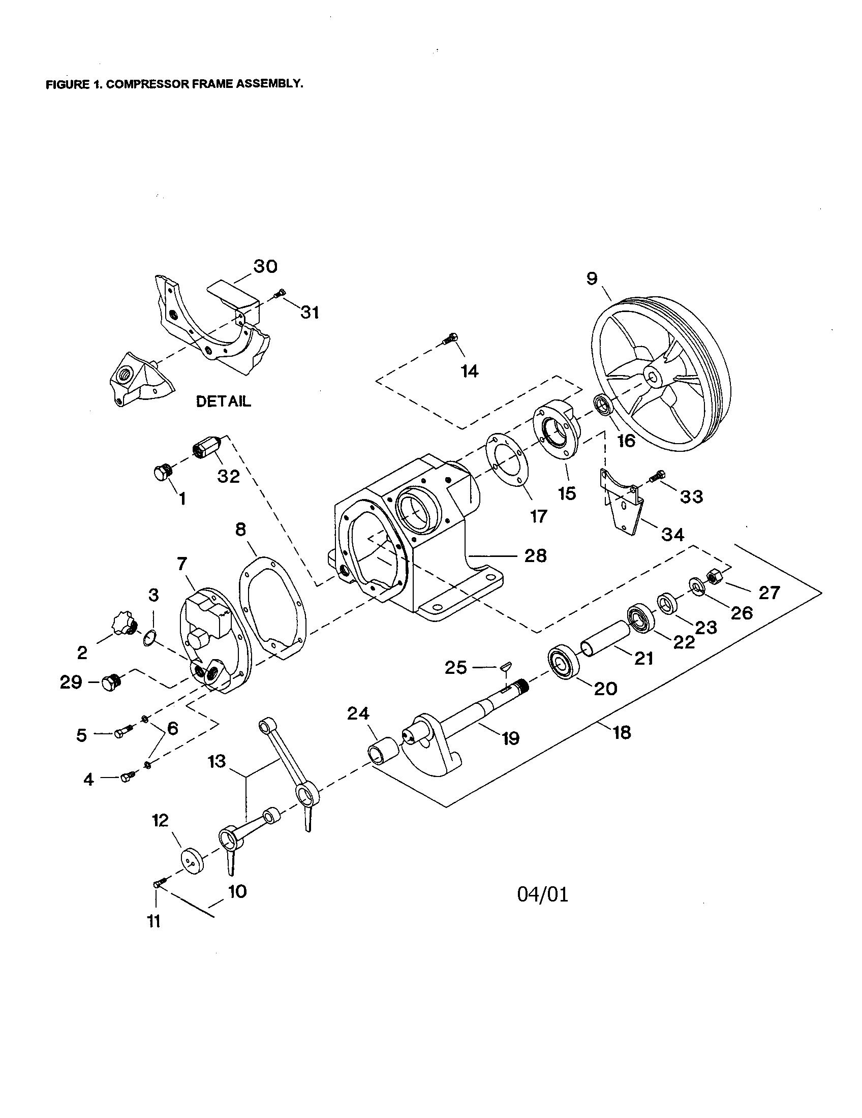 hight resolution of ingersoll rand 2340l5 compressor frame diagram