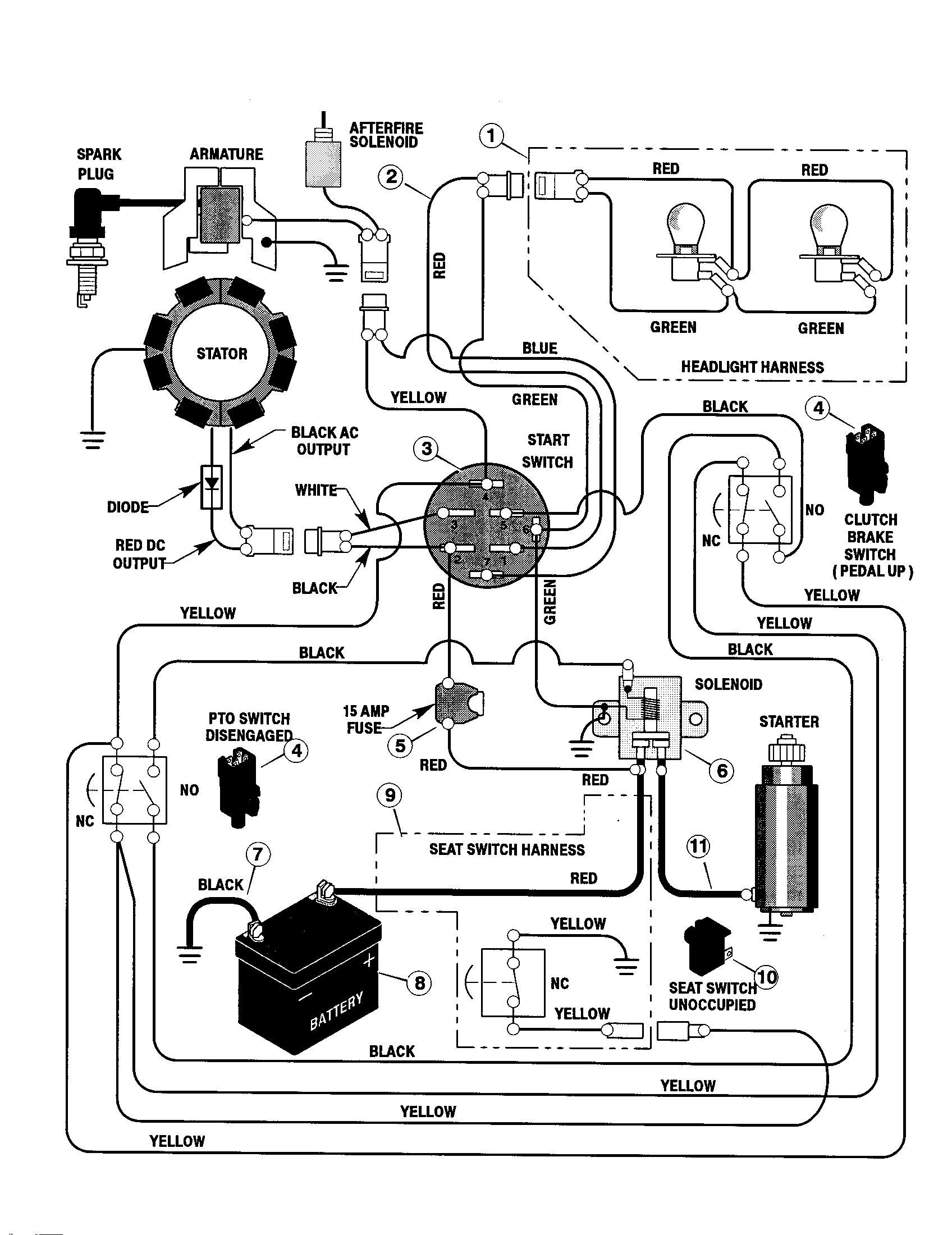 ELECTRICAL SYSTEM Diagram & Parts List for Model 42583X9A