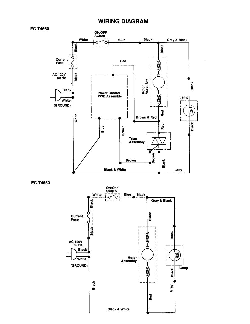 medium resolution of vacuum cleaner wiring diagrams wiring diagram centresharp upright vacuum cleaner parts model ec t4660 sears partsdirect