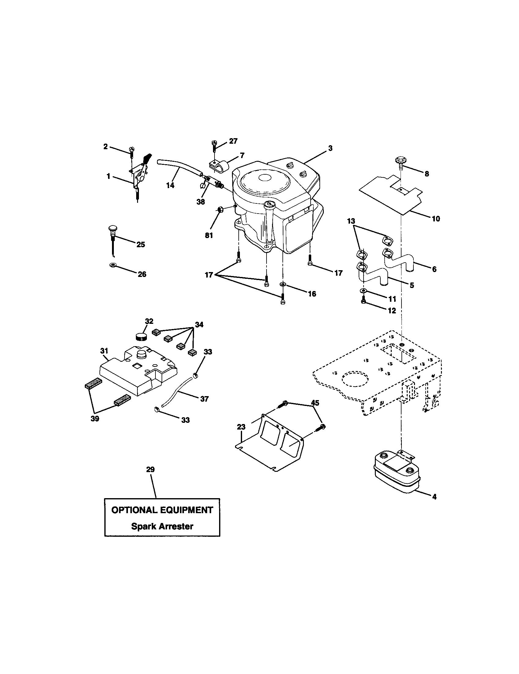 Craftsman lawn tractor parts model 917271832 sears partsdirect craftsman 42 belt diagram model 917 271652 4 at craftsman gt5000 drive belt diagram