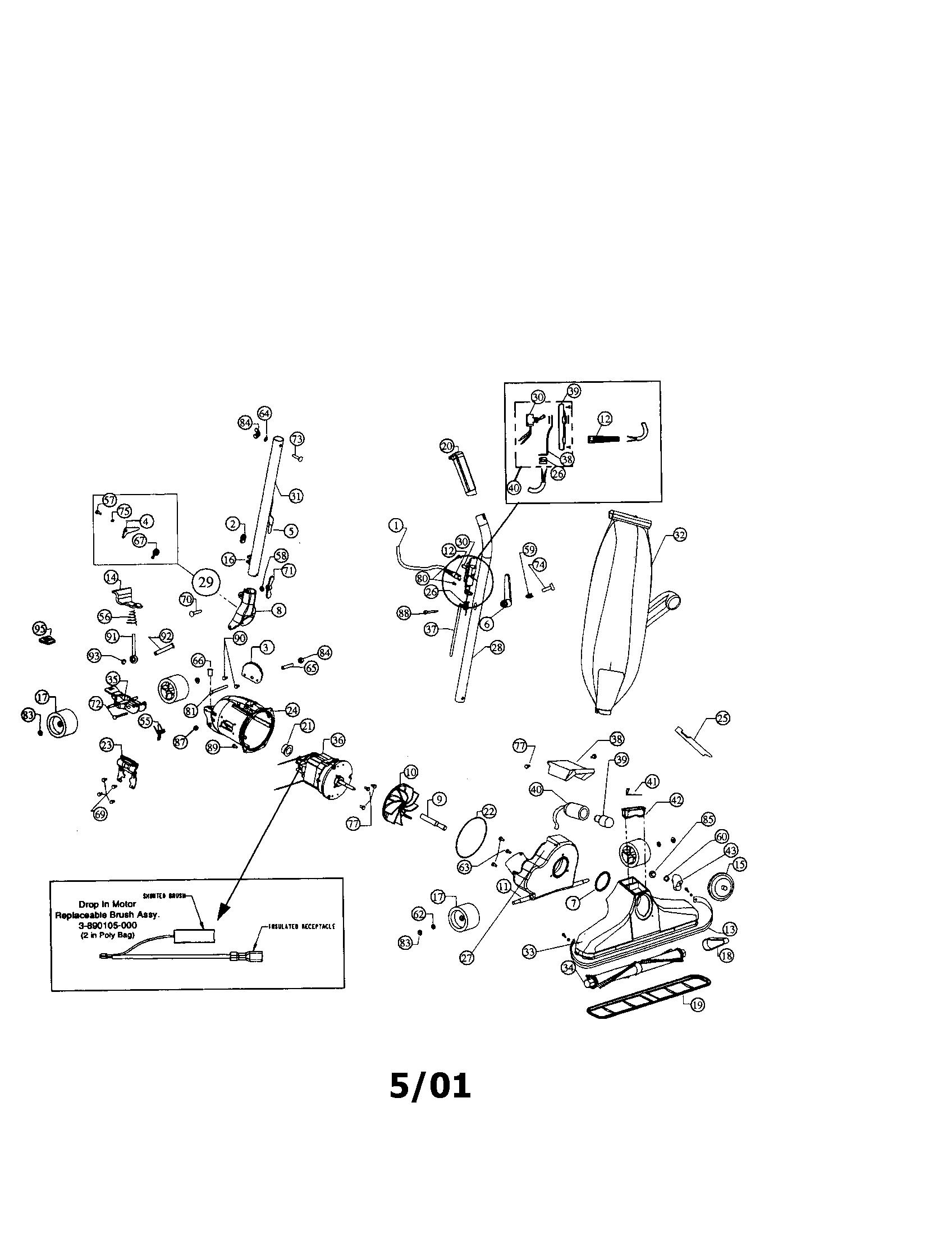 Vacuum Parts: Vacuum Parts Diagram