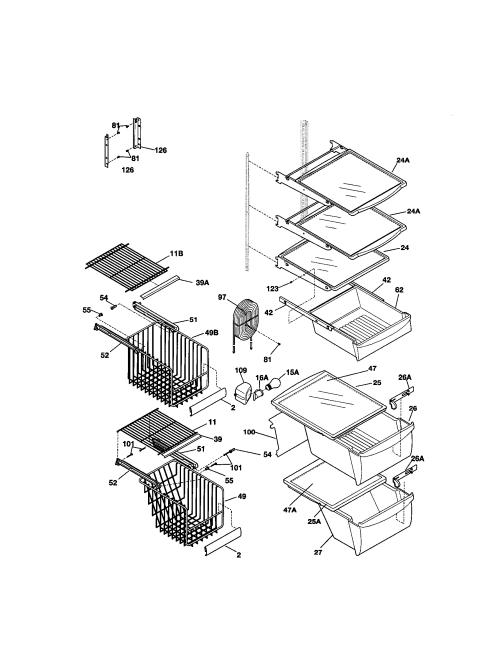 small resolution of kenmore 25351699100 shelves diagram