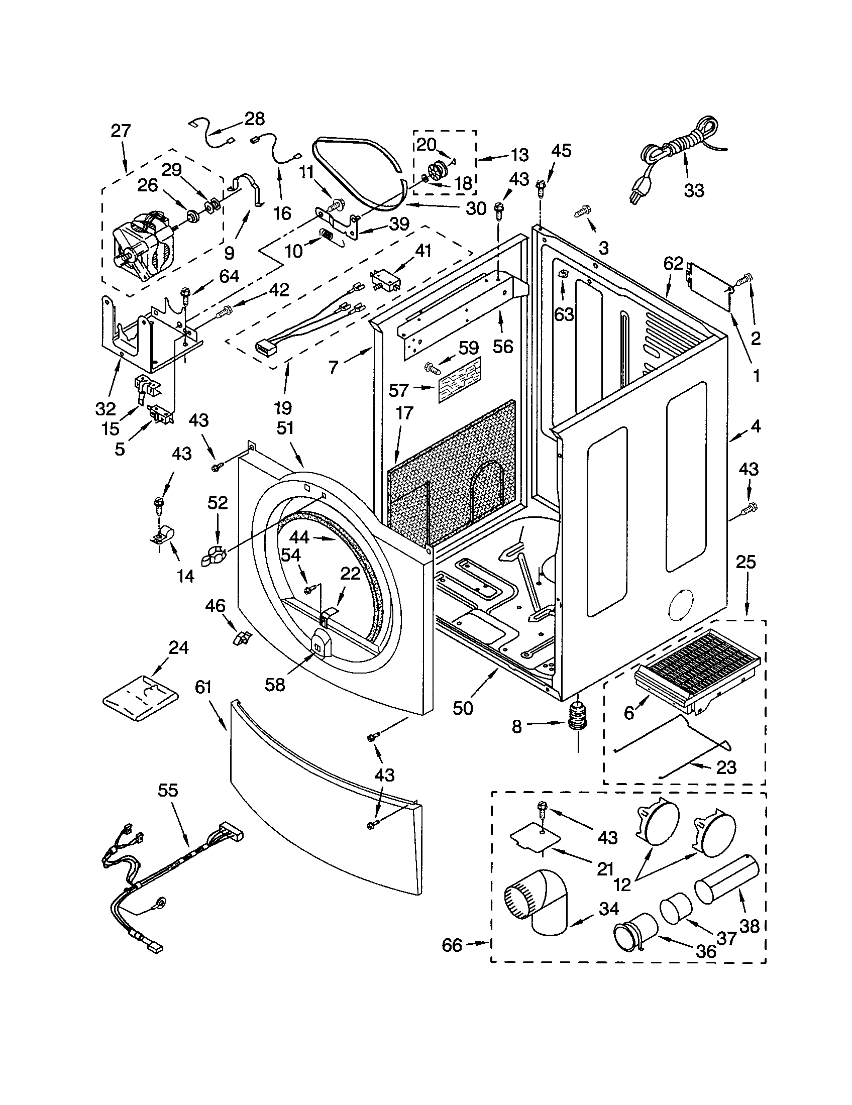 CABINET Diagram & Parts List for Model 11092824100 Kenmore