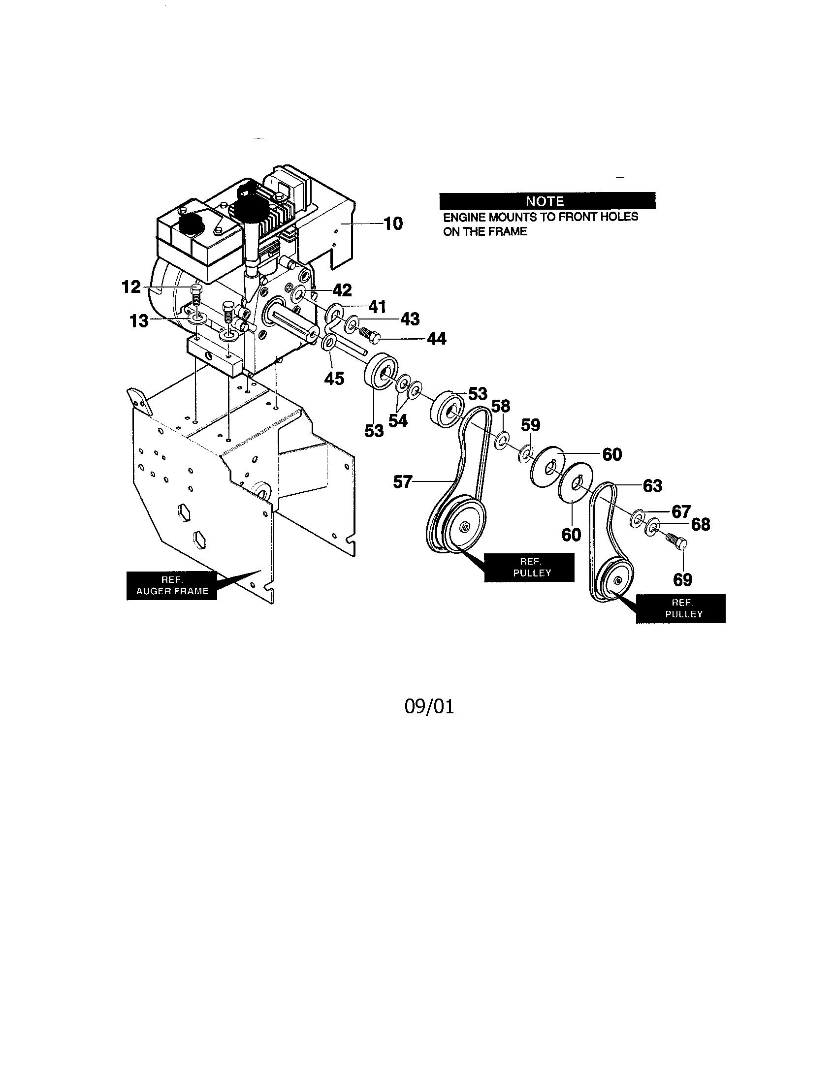 ENGINE Diagram & Parts List for Model C950529300 Craftsman