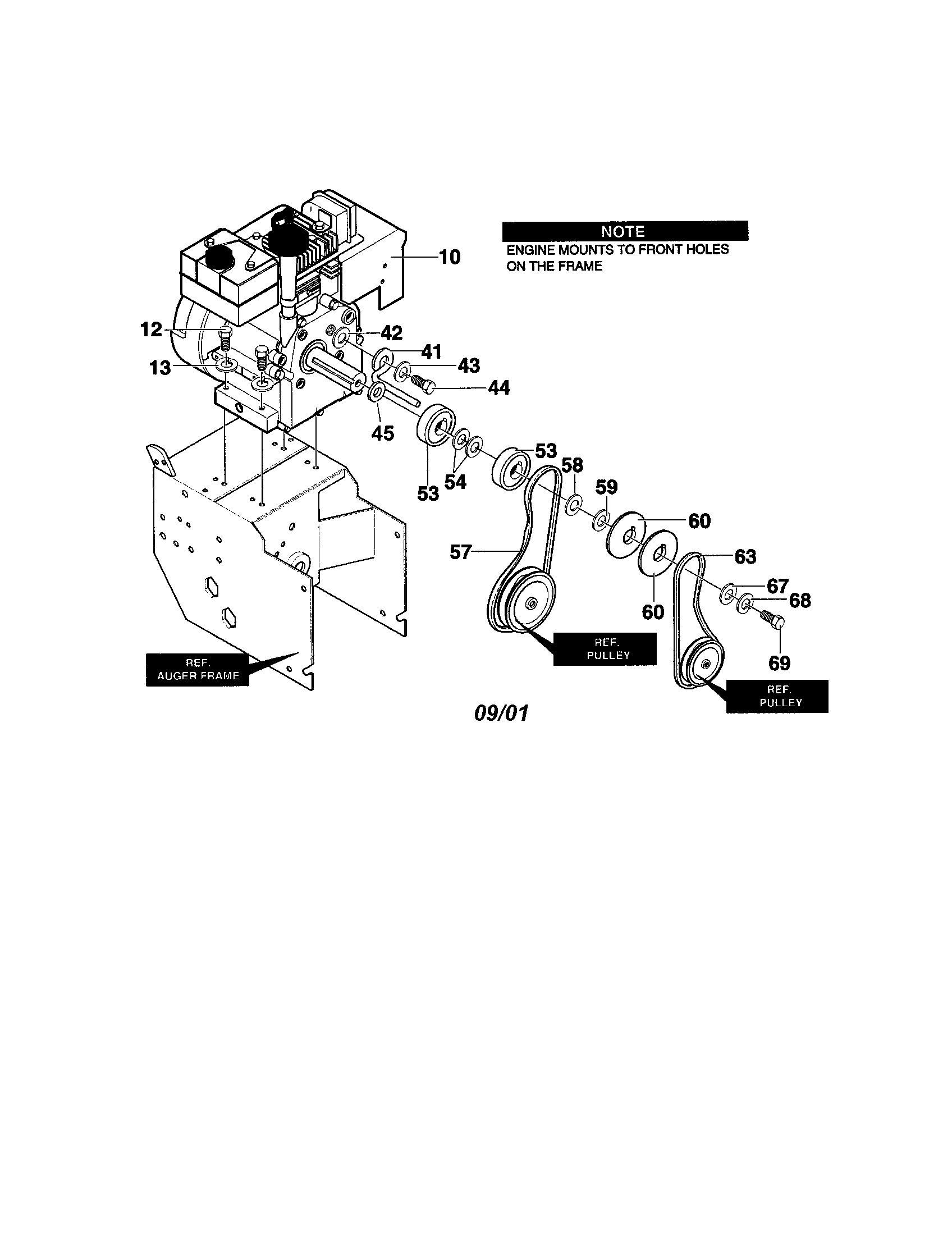 CRAFTSMAN OwnerS Manual-Snow Blower Electric starter Parts