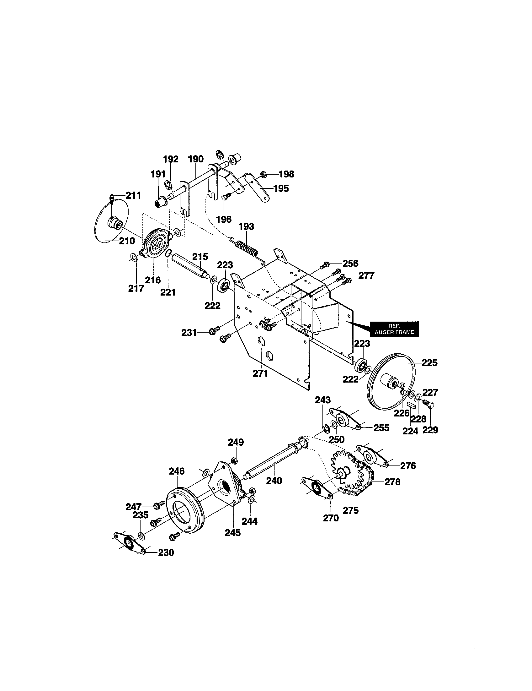 hight resolution of craftsman 536886480 drive components diagram