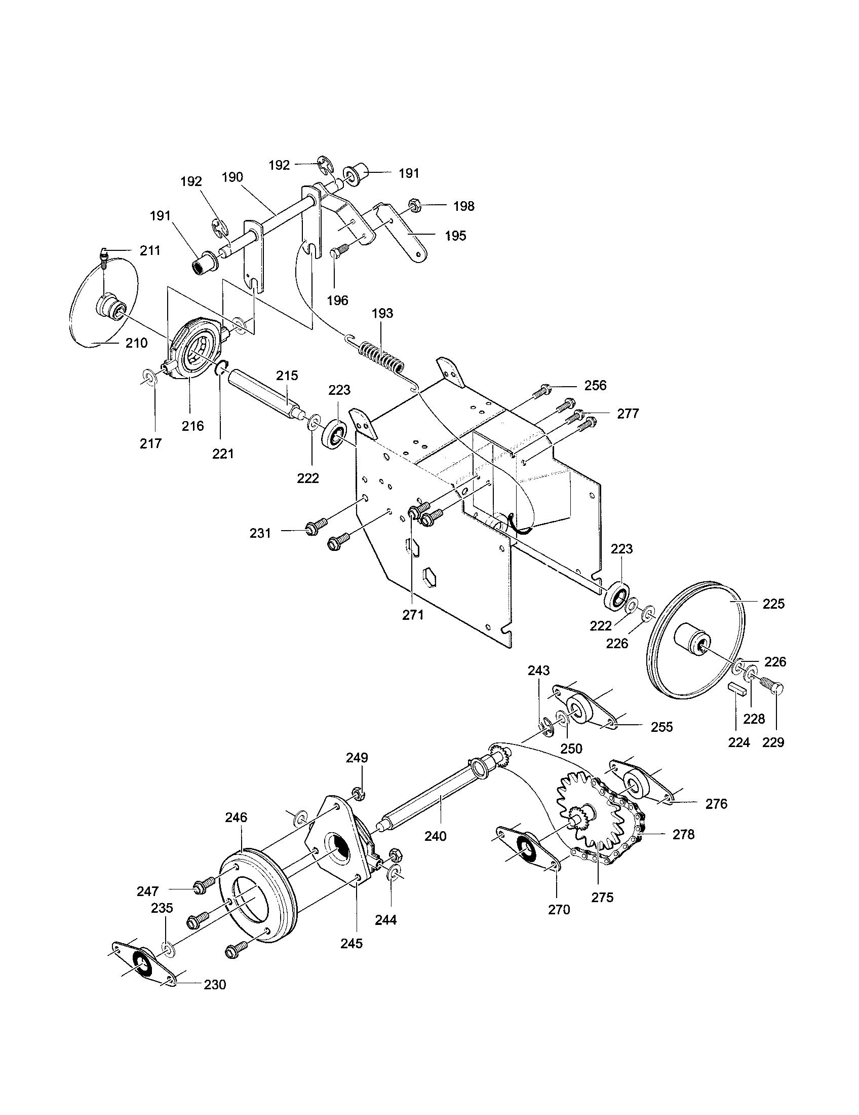 DRIVE COMPONENTS Diagram & Parts List for Model C950520050