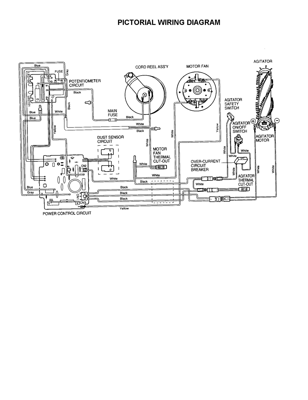 medium resolution of vacuum motor wiring diagram