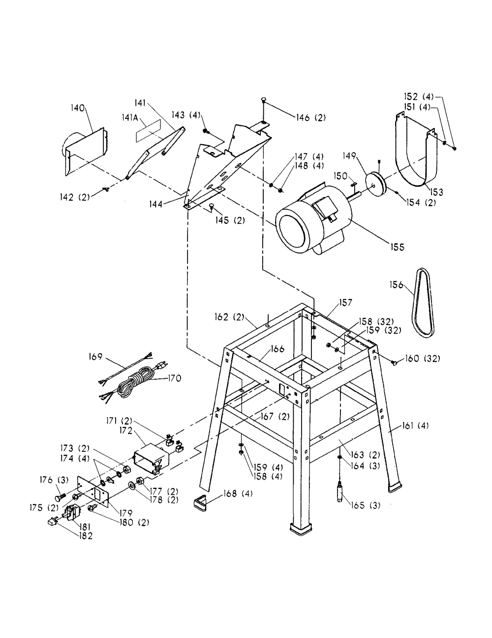 medium resolution of delta 6 deluxe jointer parts model 37 190 sears partsdirect delta jointer wiring diagram