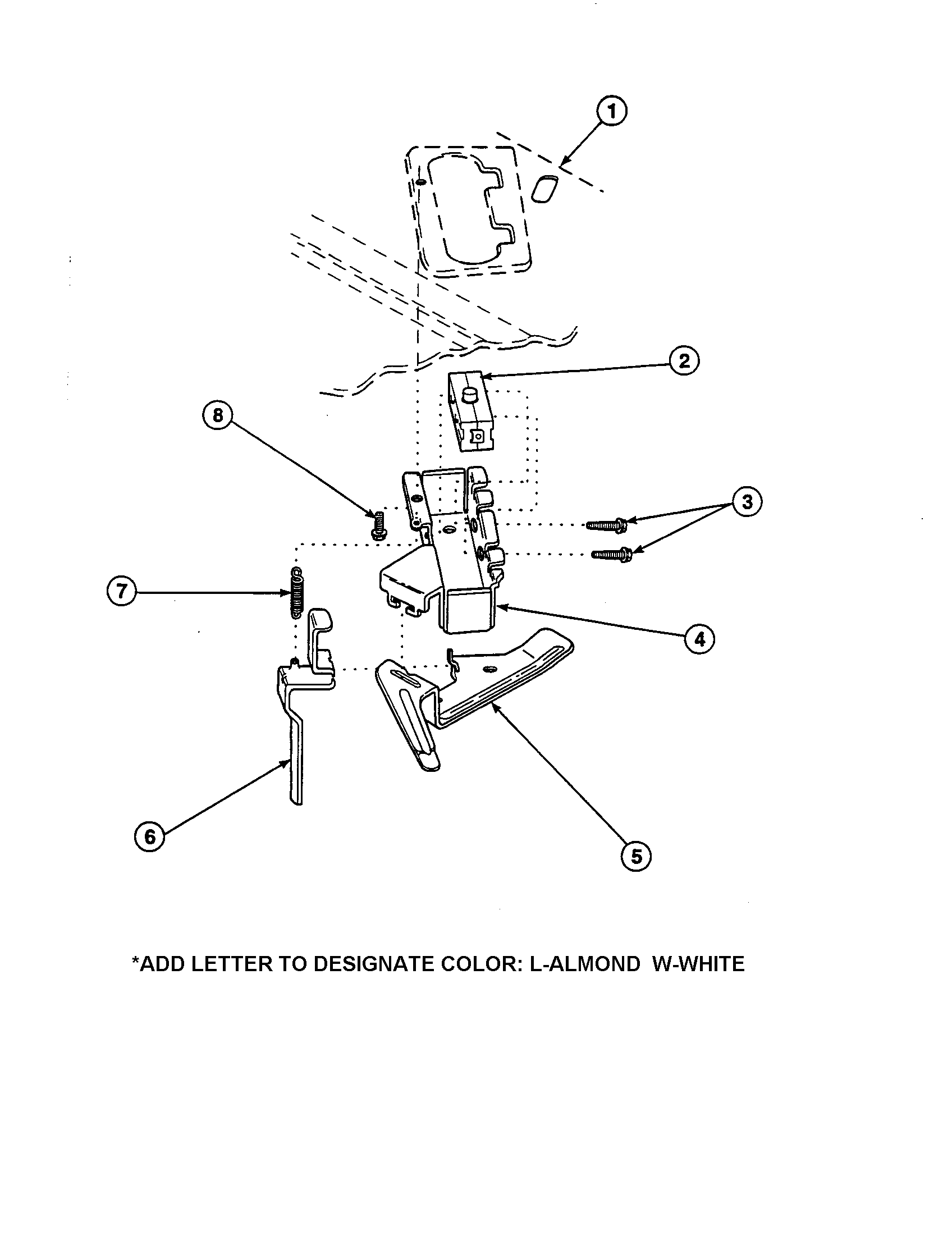OUT-OF-BALANCE SWITCH Diagram & Parts List for Model