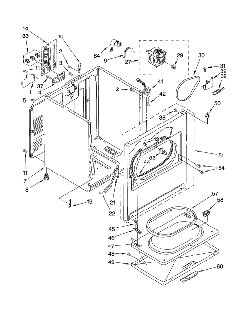 small resolution of gas dryer parts diagram images gallery