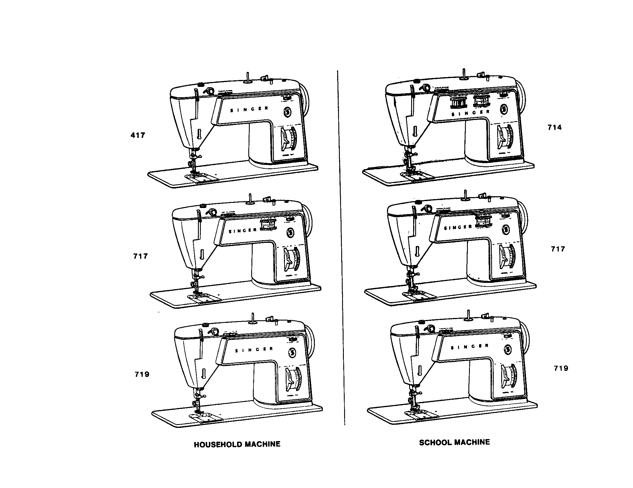 401-TYPE HOOK MACHINES Diagram & Parts List for Model