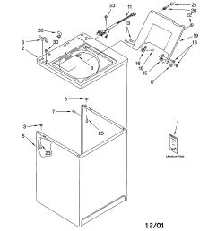 kenmore 11013202200 top cabinet diagram [ 1696 x 2200 Pixel ]