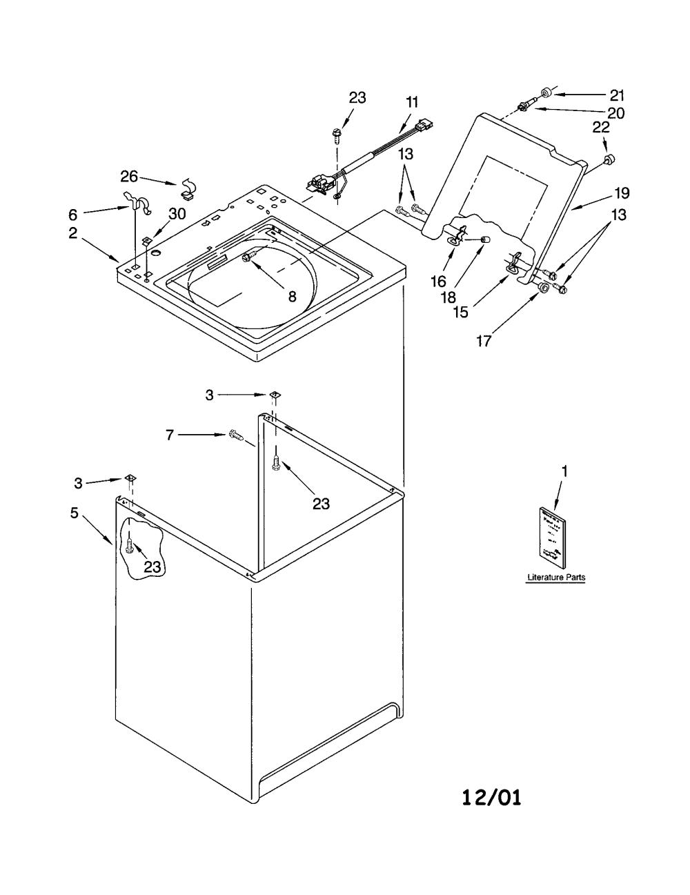 medium resolution of kenmore 11013202200 top cabinet diagram