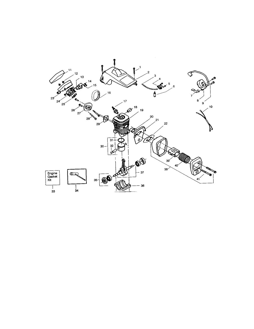 medium resolution of craftsman 358360100 crankcase diagram