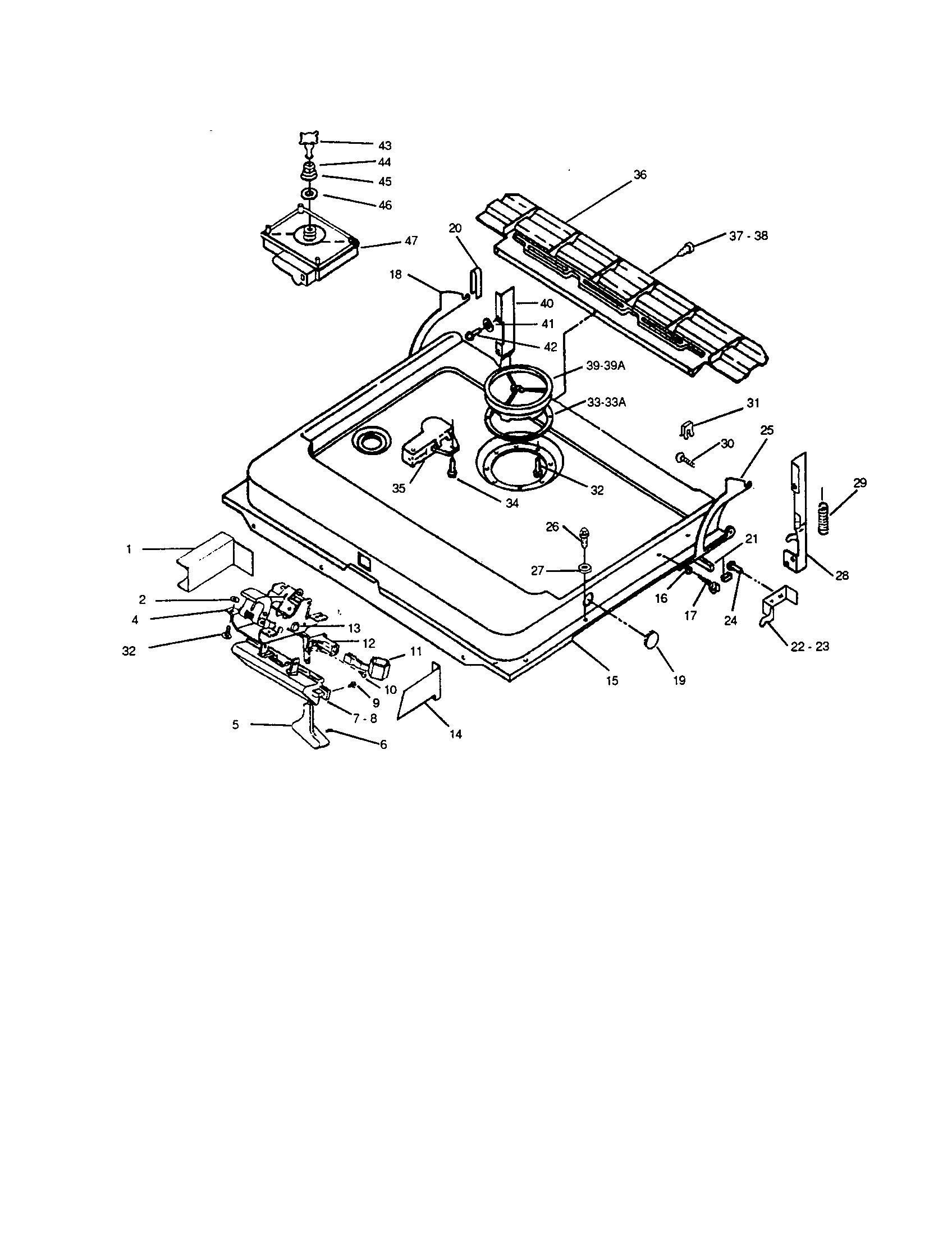 DOOR AND LATCH UNIT Diagram & Parts List for Model CL7004