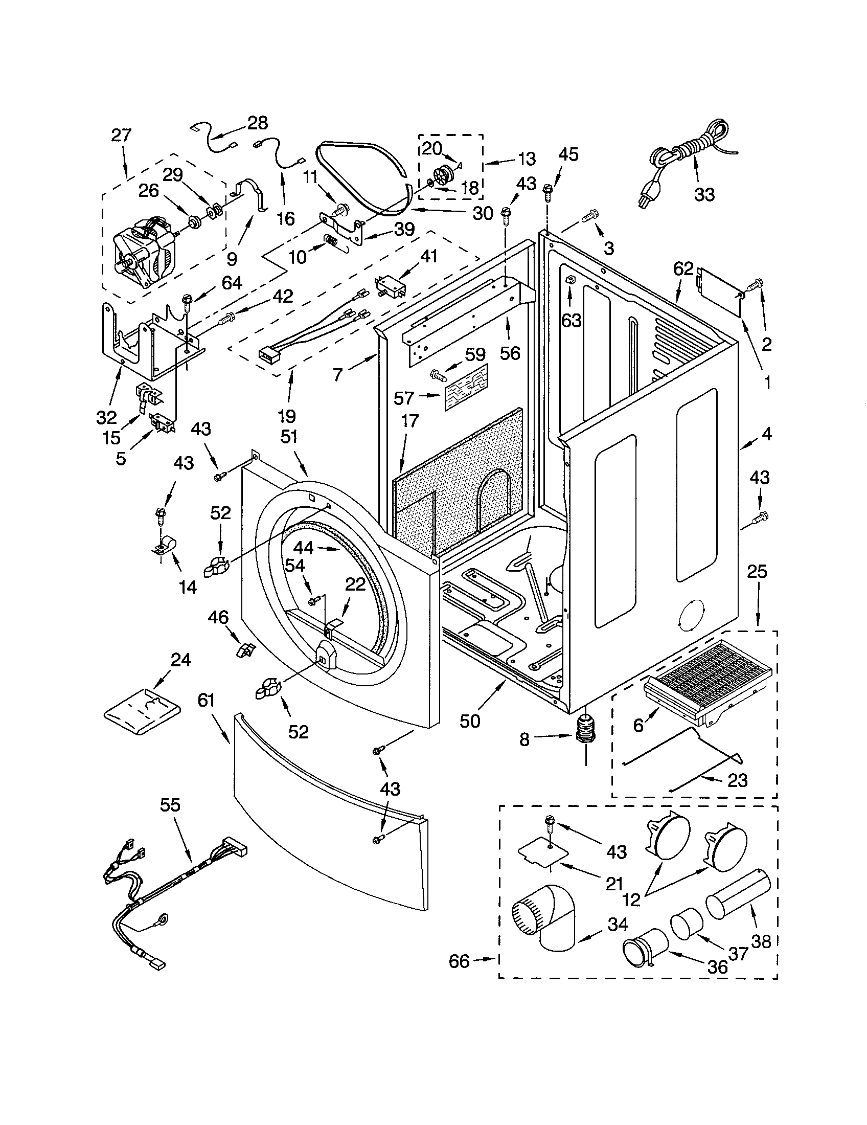 CABINET Diagram & Parts List for Model 11092832100 Kenmore