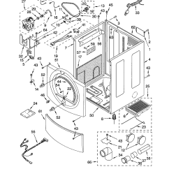 Kenmore Elite Dryer Diagram Directed Electronics 3100 Wiring Cabinet And Parts List For Model 11092832100