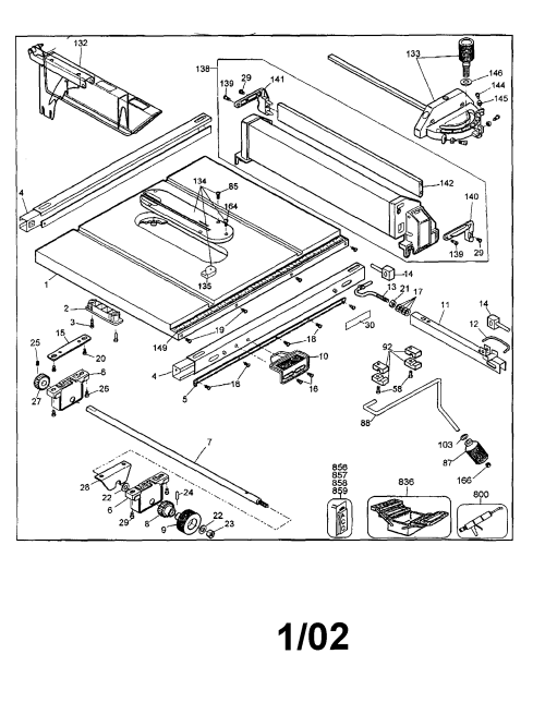 small resolution of dewalt dw744s type 2 table diagram