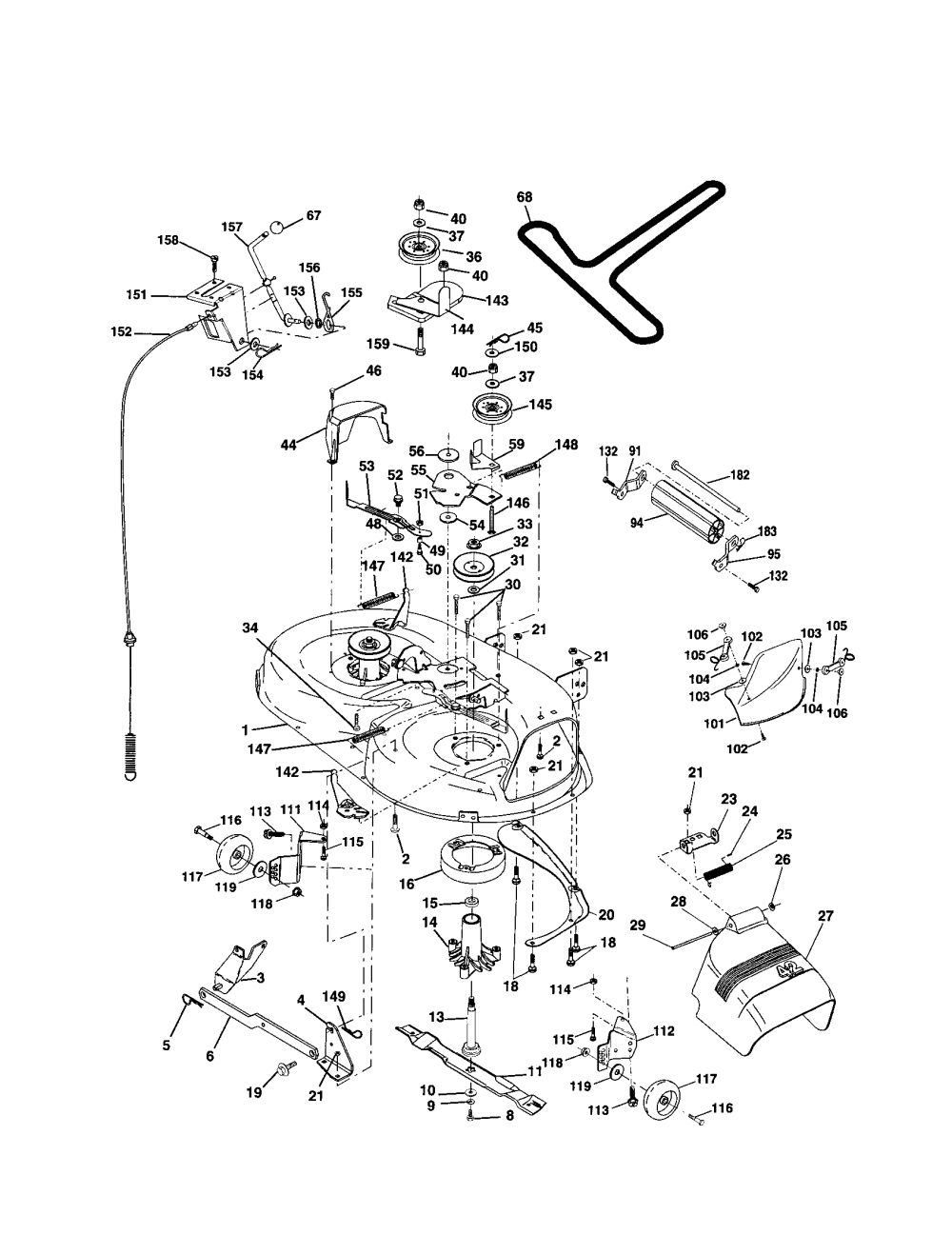 medium resolution of scotts s1642 mower parts diagram electrical and
