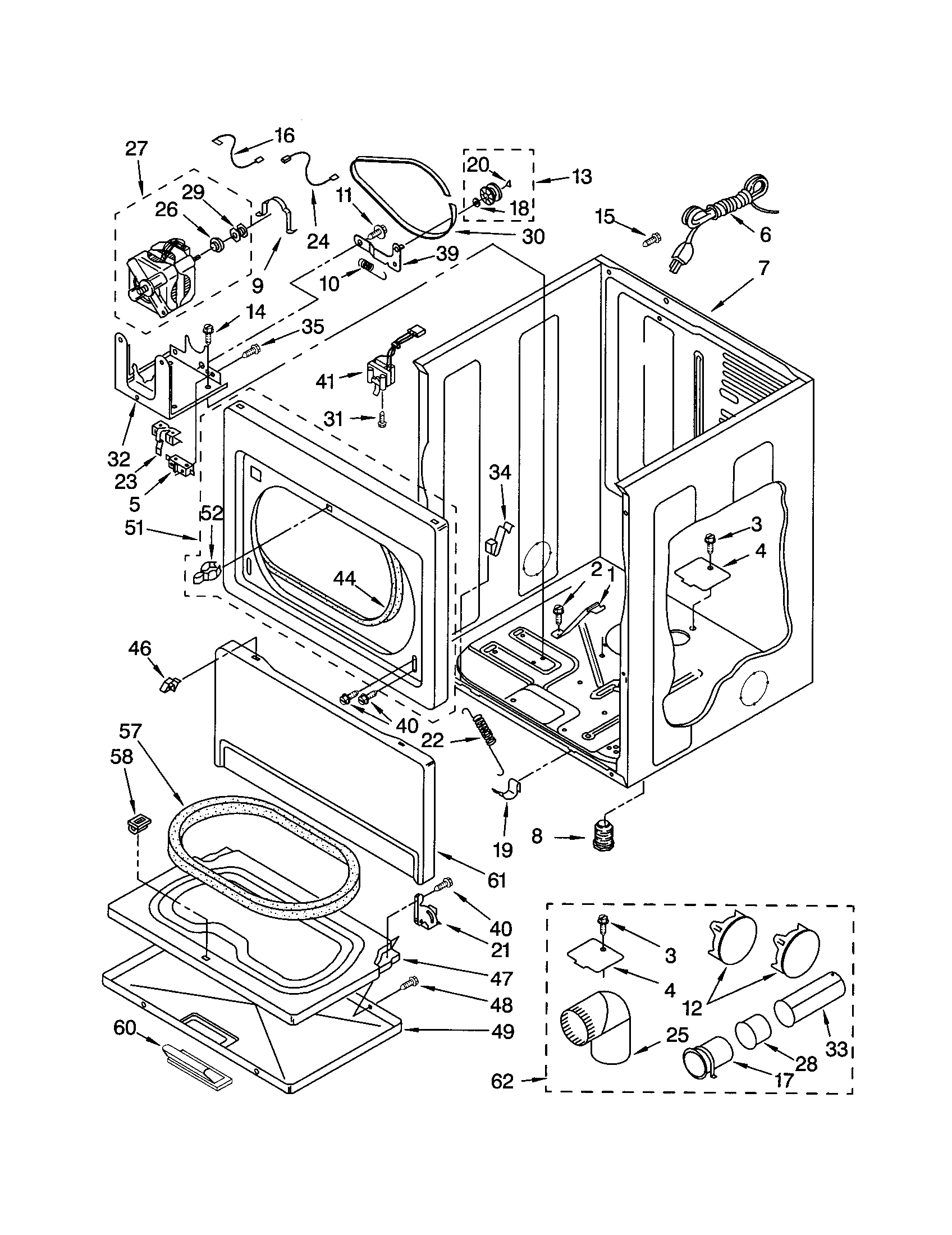CABINET Diagram & Parts List for Model 11073032101 Kenmore