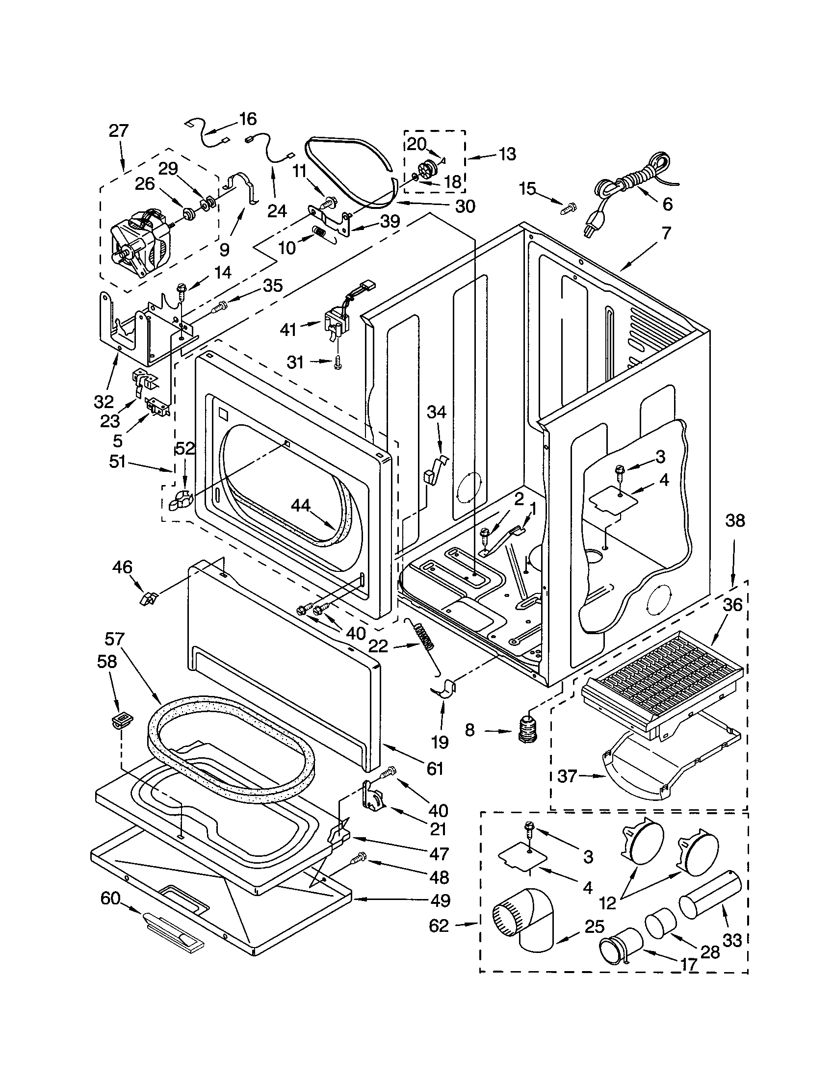 hight resolution of kenmore 11073942101 cabinet diagram