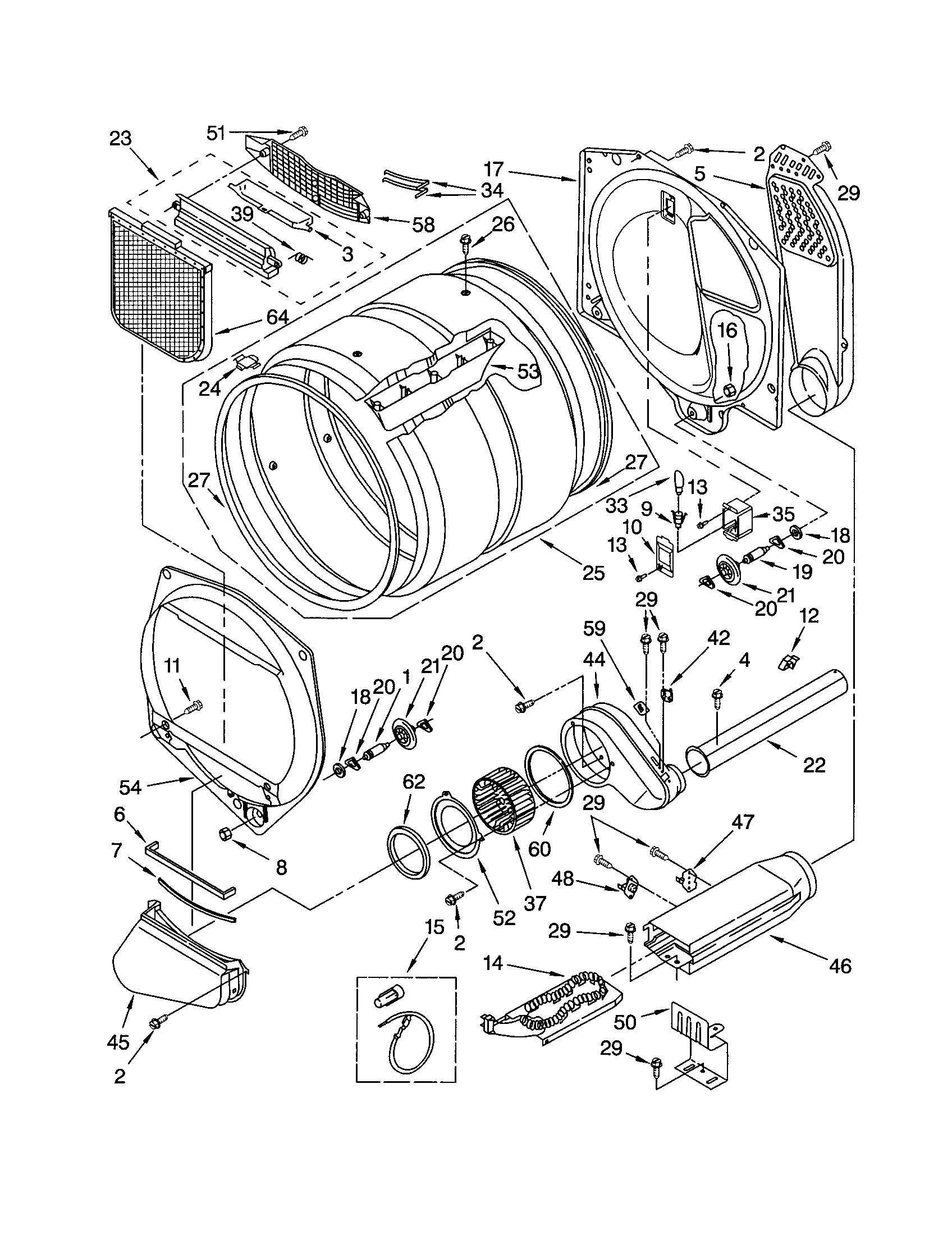 BULKHEAD Diagram & Parts List for Model 11062082101