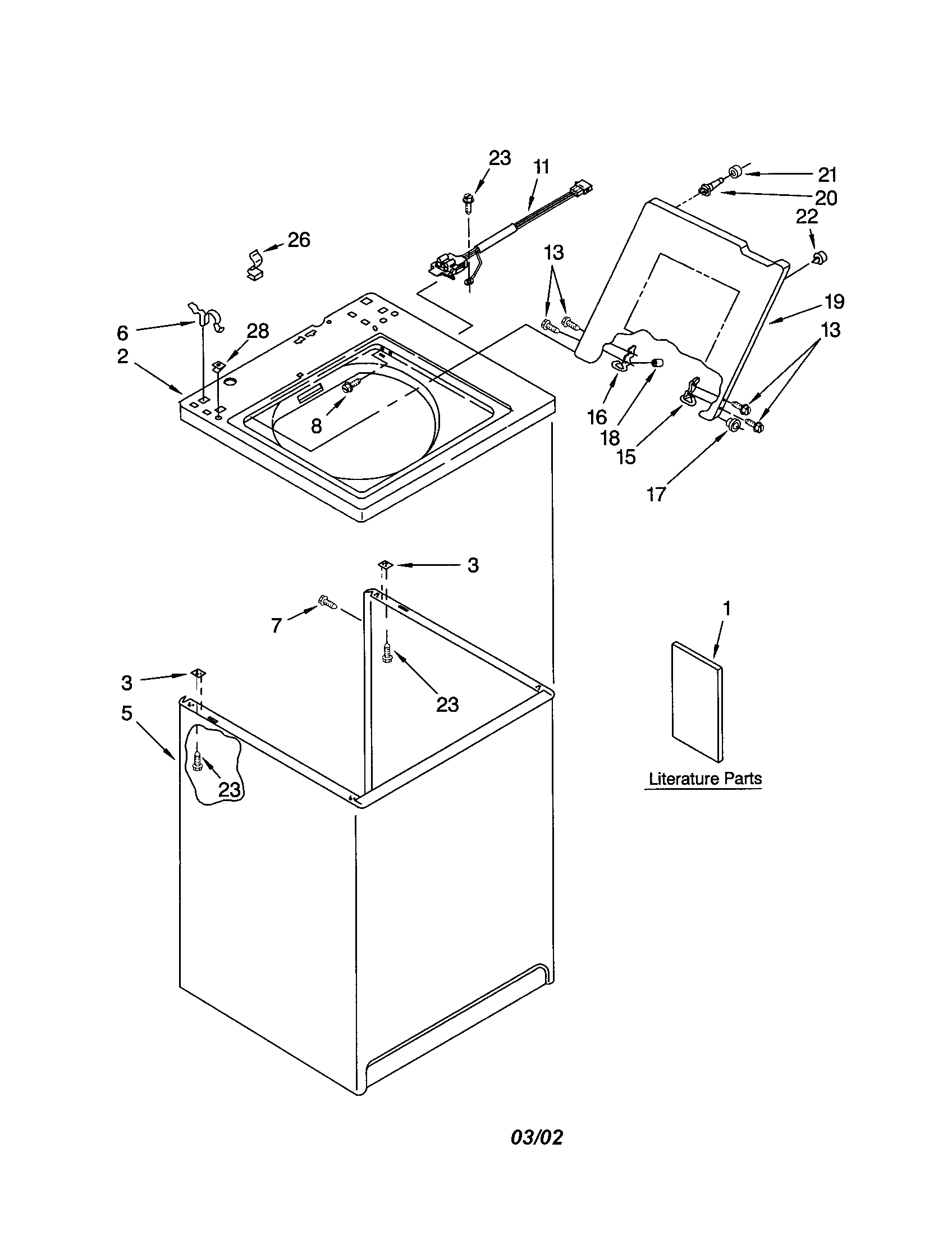 hight resolution of kenmore 11019422200 top and cabinet diagram