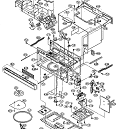 sharp r 1754 oven cabinet parts diagram [ 2122 x 2932 Pixel ]
