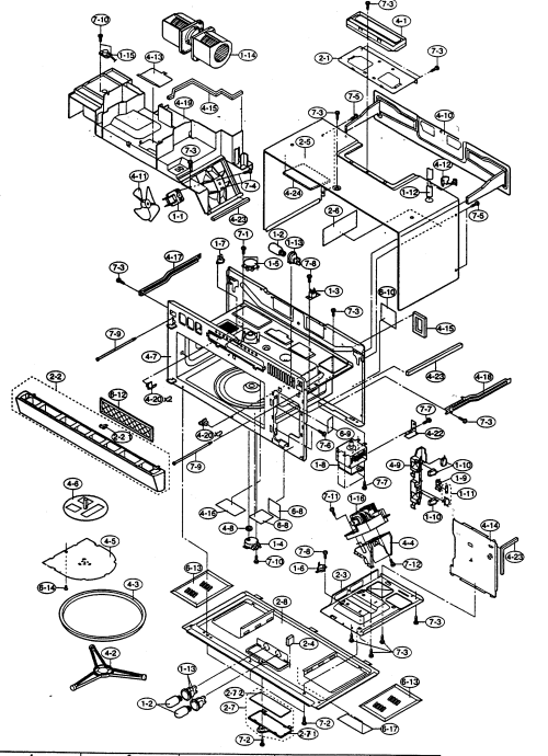small resolution of sharp r 1754 oven cabinet parts diagram