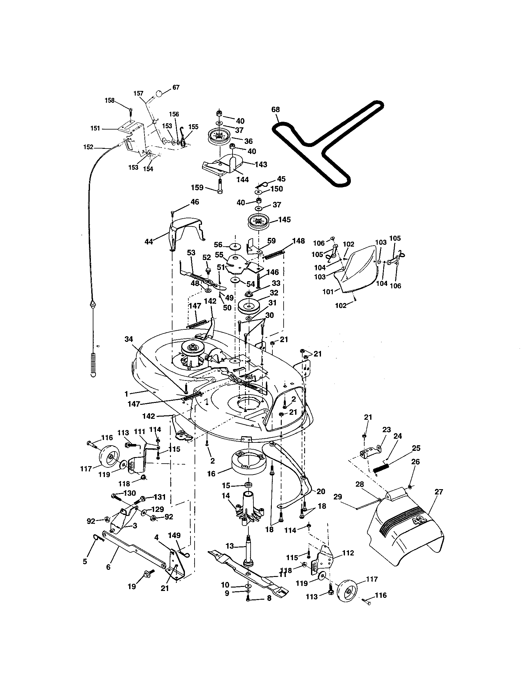 MOWER DECK Diagram & Parts List for Model 917271760