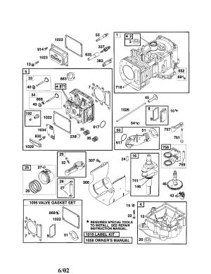BRIGGS & STRATTON BRIGGS & STRATTON ENGINE Parts   Model