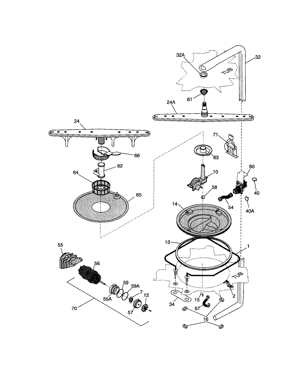 medium resolution of frigidaire fdb989gfw2 motor and pump diagram